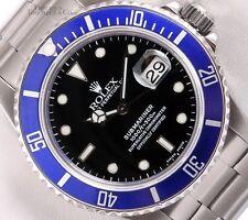 Rolex Mens Submariner Date 16610 Oyster Steel 40mm Watch-Blue Ceramic-Black Dial