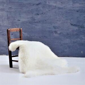 "Genuine Sheepskin Rug Ivory White Sheep Skin Fur- Australian Sheep Rug 22"" x 30"