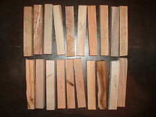 20 Woodturning Pen Blanks.Yew, Acacia, Laburnum, Walnut, Beech, Holly, Lime, etc