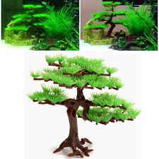 Artificial Bonsai Pine Tree Water Plants Fish Tank Aquarium Ornament Outdoor