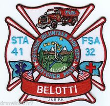 "21 Butte  Station-21 // Rescue 3.5/"" x 2.5/"" size fire patch Alaska"