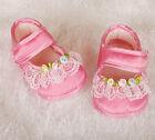 NEUF bébé filles satin baptême chaussures en ivoire, rose de nouveau-né pour