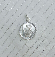 ST CHRISTOPHER TRAVEL HOLIDAY TRIP PROTECTION CHARM 925 ENGLISH STERLING SILVER