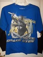 G.I. Joe GI Cobra Blue Black Snake Eyes Long Sleeve Shirt Boys Large 14 / 16 NWT