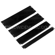 "1/2U (half U) 19"" Rack Mount Blank Panel Black Powder Coated Steel"