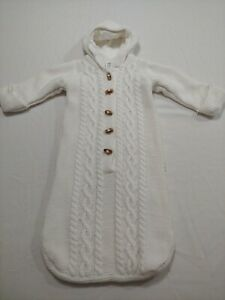 Gap Newborn 3-6 Months Knit Closed-Bottom Sweater Cotton and Fleece Coverall