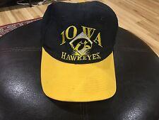 Vintage University Of Iowa Hawkeyes Yellow And Black SnapBack Hat Pls See Pics