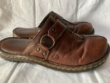 Born Clog Brown Leather Size 9