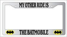 Chrome License Frame My Other Ride Is The Batmobile Retro Batman