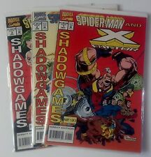 Spider-Man X Factor Shadowgames Issues 1 2 3 Comic Book Lot 1994 Marvel Group