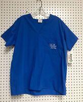 University of Kentucky Wildcats Royal Unisex Men's Ladies College Scrub Tops NWT