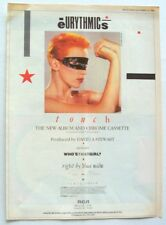 Eurythmics 1983 Poster Advert Touch