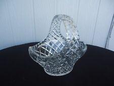 vintage art deco  bohemia crystal basket vase bohemian