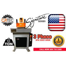 New 10 Ton 3 Phase Swing Arm Clicker Press Hydraulic Die Cutting Machine By Cjr