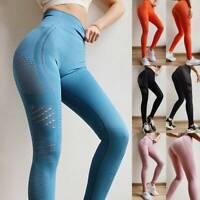 Women's High Waisted Yoga Pants Seamless Push Up Leggings Sports Fitness Gym