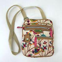 Lily Bloom Crossbody Bag Floral Multicolor Satchel Purse Shoulder Adjustable Bag