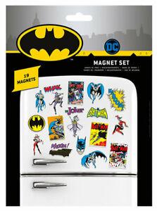 DC Comics Batman set of 19 mini magnets on backing sheets  (py)