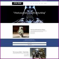 STAR WARS Website Business For Sale Earn $997.12 A SALE FREE Domain FREE Hosting