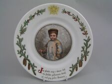 "ROYAL COPENHAGEN PETERS JUL 7 1/4"" CHRISTMAS PLATE, NUMBER 1."