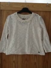 Superdry Lace Cropped Slouch Top Size XS GOOD CONDITION