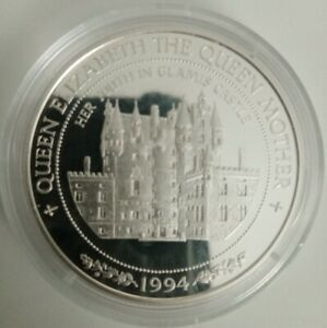 Royal Mint Queen Mother Silver Proof 925 1oz Coin - Youth in Glamis Castle $10