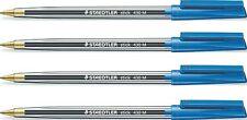 STAEDTLER 6 Piece Stick Ballpoint Blister Pen Set Fine Blue Line Write Norris