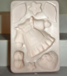 Amaco Push Molds - Angel Doll - VintagE Polymer Clay Mold NOT USED