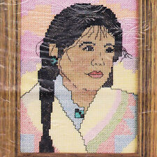 Indian Girl Counted Cross Stitch 5011 Kit Candamar 5 x 7