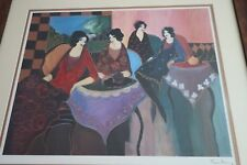 Original Itzchak Tarkay 'TWO by TWO' Signed Seriolithograph Framed Artwork