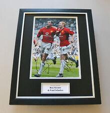 Roy Keane & Paul Scholes Signed Framed 16x12 Photo Man Utd Autograph Display COA
