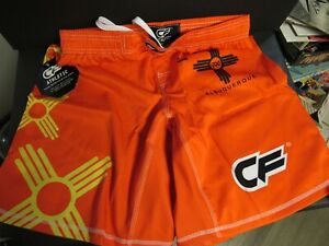 MMA Athletic Cage FIGHTER Embrace The Grind Shorts Trunks Size M Orange W/ Tags!