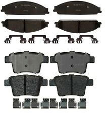 Front Rear Ceramic Brake Pad Sets Kit ACDelco For Ford Freestyle Mercury Montego