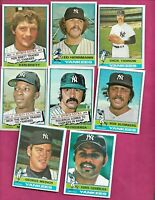 1976 TOPPS NEW YORK YANKEES  CARD LOT  (INV# C2037)