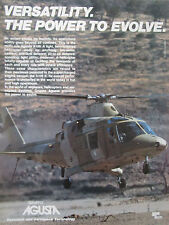 11/1989 PUB GRUPPO AGUSTA A109 K MILITARY HELICOPTER HUBSCHRAUBER HELICOPTERE AD
