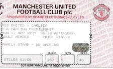1994/1995 Manchester United et Chelsea match ticket