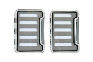 Pair of Premium Slim Fly Boxes-Water Tight-Clear-Great For Your Shirt Pocket