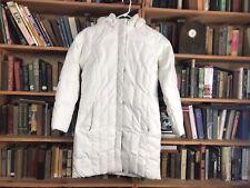 Eddie Bauer Women Small Cream/ White/ Ivory Long Goose Down Jacket Coat Winter