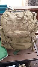 U.S.M.C FILBE Coyote Brown Backpack Rucksack, With ALICE Frame - Good Condition