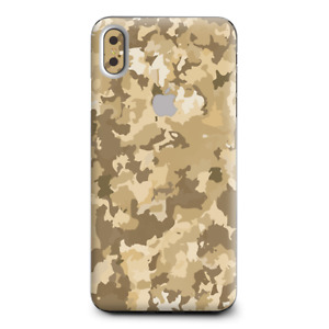 Skins Decal Wrap for Apple iPhone XS Max-Brown Desert Camo camouflage