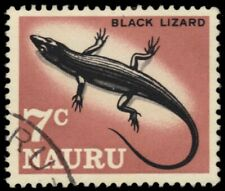 "NAURU 63 - Wildlife ""Black Lizard"" (pb25151)"