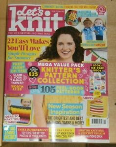 Let's Knit magazine #170 May 2021 22 & Easy makes + Knitter's pattern collection