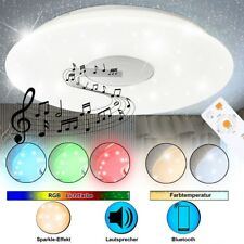 RGB LED plafond lampe couloir Bluetooth MP3 haut-parleur CCT Starlight DIMMABLE