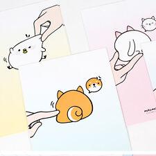 1x Fluffy Butt Mozzi Letter Set - 4sh Writing Stationery Paper 2sh Envelope