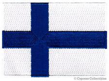 FINLAND FLAG embroidered iron-on PATCH FINNISH EMBLEM applique Suomen tasavalta