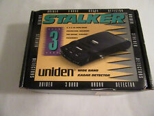 Vintage Uniden Stalker 3 Band Wideband Radar Detector Rd6000W with Box