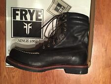 Frye Dakota Crepe Tall Leather Boots Black US Size 12M New In Box $328