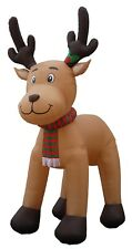 Christmas Air Blown Large Inflatable Yard Party Garden Decoration Reindeer Scarf