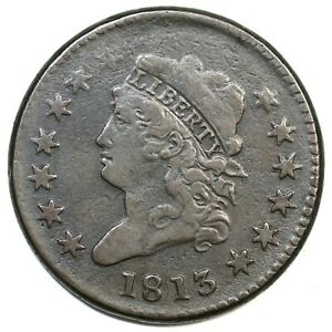 1813 S-293 R-2 Classic Head Large Cent Coin 1c