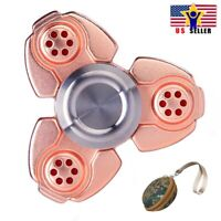 Case + Metal Tri Fidget Heavy Weight Long Prime Spinner Ball Rose Gold Titanium