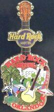 Hard Rock Hotel ORLANDO 2011 City Tee T-Shirt Core GUITAR PIN on Card V8